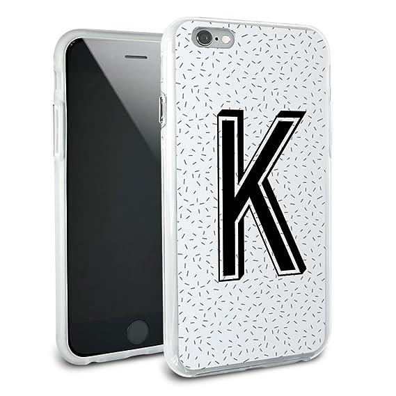 Amazon Com Letter K Initial Sprinkles Black White Protective Slim