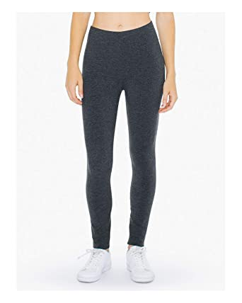 cbde9b9ce4444 American Apparel ATT328W Ladies' Cotton Spandex Winter Leggings Charcoal XL