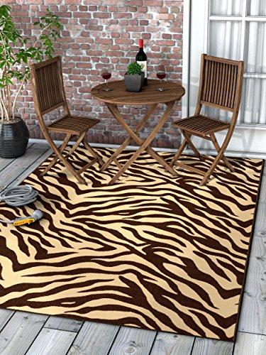 Well Woven 25014 Kings Court Zebra Modern Brown Animal Print 3'3
