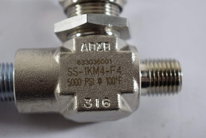 Swagelok Part SS-1KM4-F4-1//4 SS Needle Valve