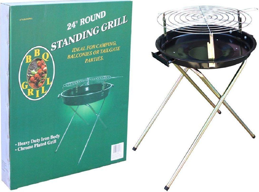 HOMEBAY 24'' Round Standing BBQ Grill