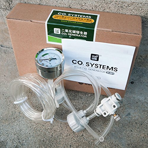 DIY aquarium planted tank CO2 system kit tube valve guage bottle cap D201