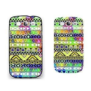 Vogue Aztec Tribal Pattern Phone Case Pretty Geometric Triangle Diamond Hybrid Design Samsung Galaxy S3 Case Cover for Girls