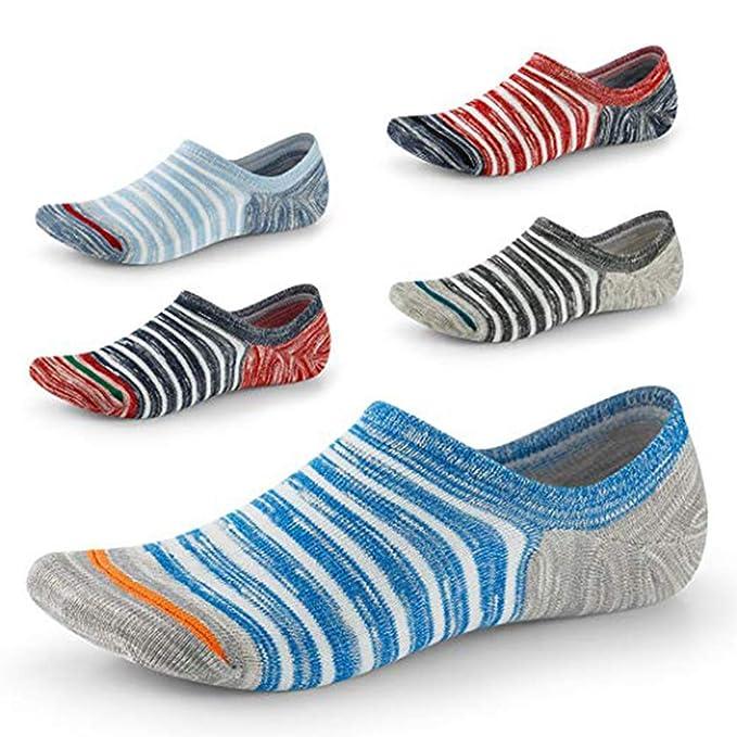 ZAMAC Calcetines de 5 Pares - Corte Bajo con Calcetines Antideslizantes Invisibles Para Zapatos de Barco Zapatos Mocasines Oxford: Amazon.es: Ropa y ...