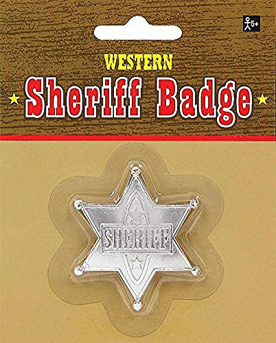 [Badge Sheriff Silver (Pack of 12)] (Couples Scary Costumes)
