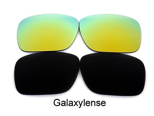 4c9a365e736b9 Galaxy Lentes De Repuesto Para Oakley Holbrook Polarizados negro y dorado 2  pares - Transparente