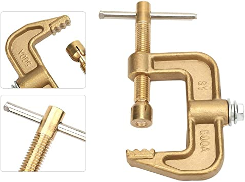 Brass with Force Lever Brass Welding Clamp G Earth Clamp for Automobile Accessories for Shipyards, 500A