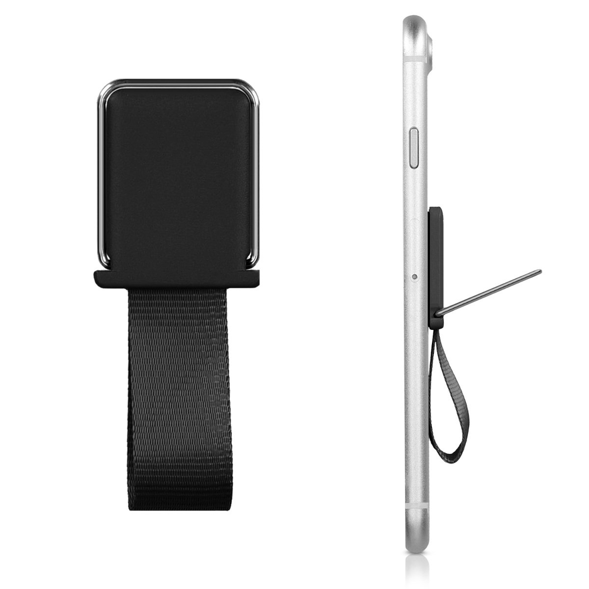 Works with Magnetic Car Mount with Stand Compatible with iPhone Samsung HTC Nokia Google iPad Mini kwmobile Universal Magnetic Finger Holder for Smartphones