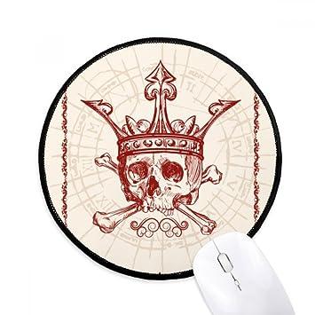 DIYthinker Spade corazones corona roja Esqueleto de cartas ...