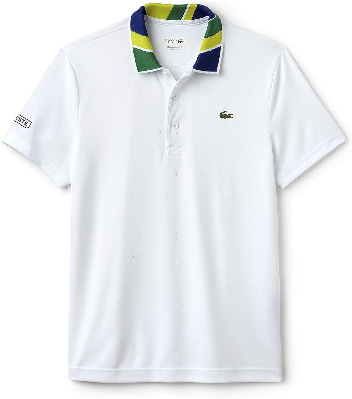 Polo Lacoste Sport Print Blanco S Blanco: Amazon.es: Ropa y accesorios