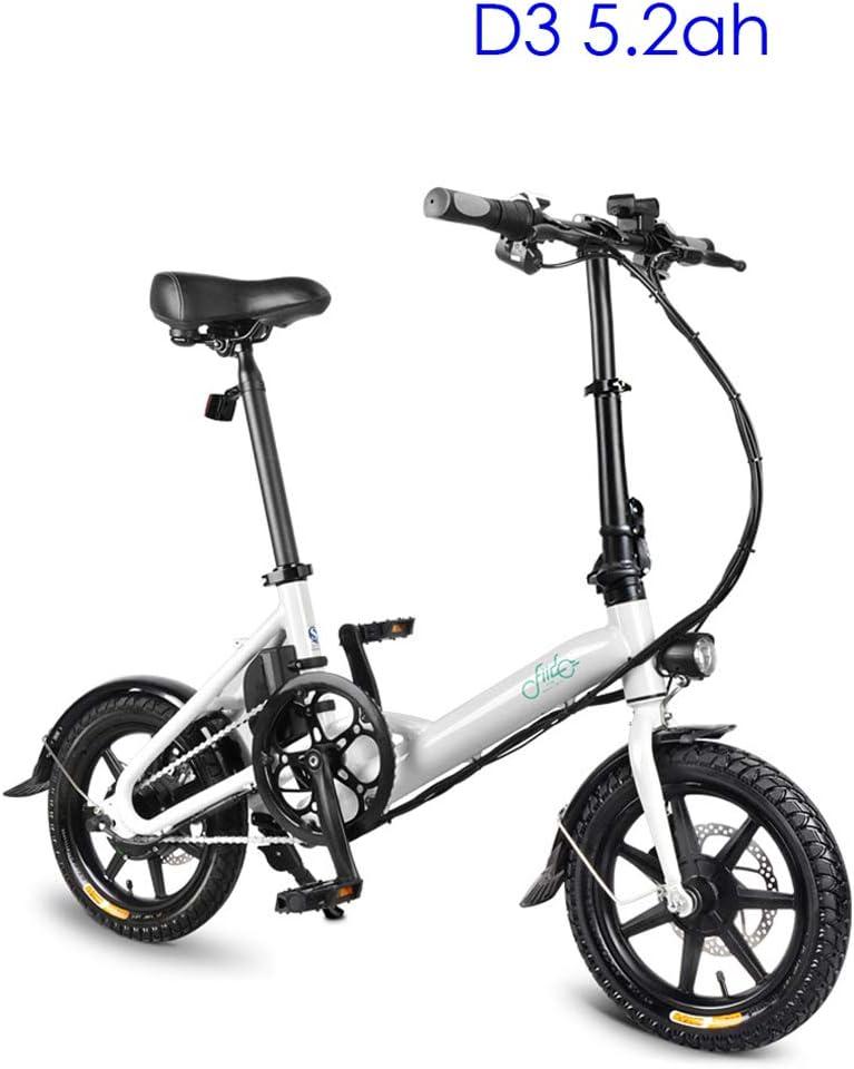 Bicicleta eléctrica plegable para adultos, scooter eléctrico de 14 ...
