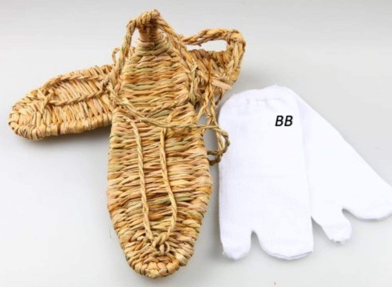 8,9,10,11size Bleach Wind Straw Sandals SSJ Tabi Socks Sandals Bleach Cosplay