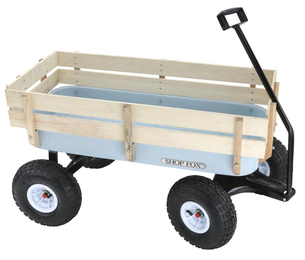 Shop Fox D3244 Heavy Duty Wagon with Wood Sides