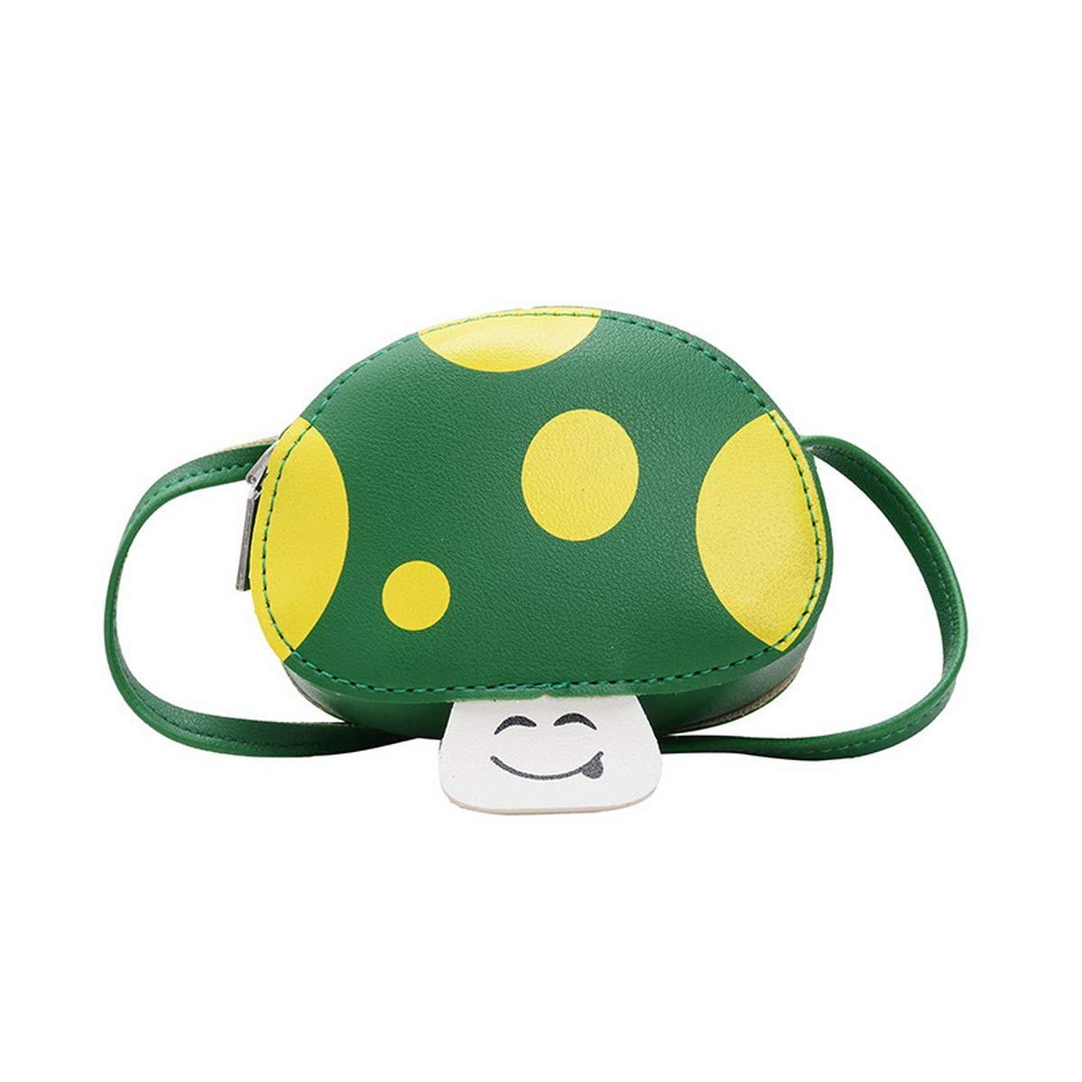 Girls Crossbody Bag Cute Cartoon Mushrooms Shape Shoulder Purses Chic Handbag