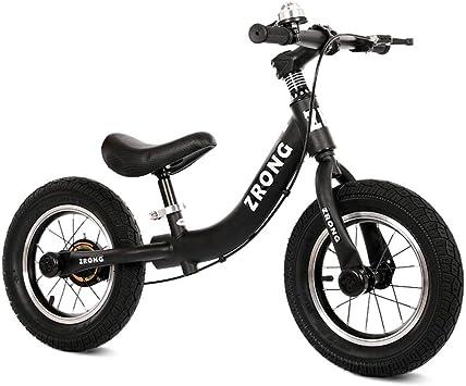 XIAOME Niño Bicicleta Equilibrio Sin Pedal,Neumáticos de Aire Bicicleta de Entrenamiento Deportivo Asiento Ajustable Caballo Juguetes Bicicletas para niños 2-6 años Edad-Negro: Amazon.es: Juguetes y juegos