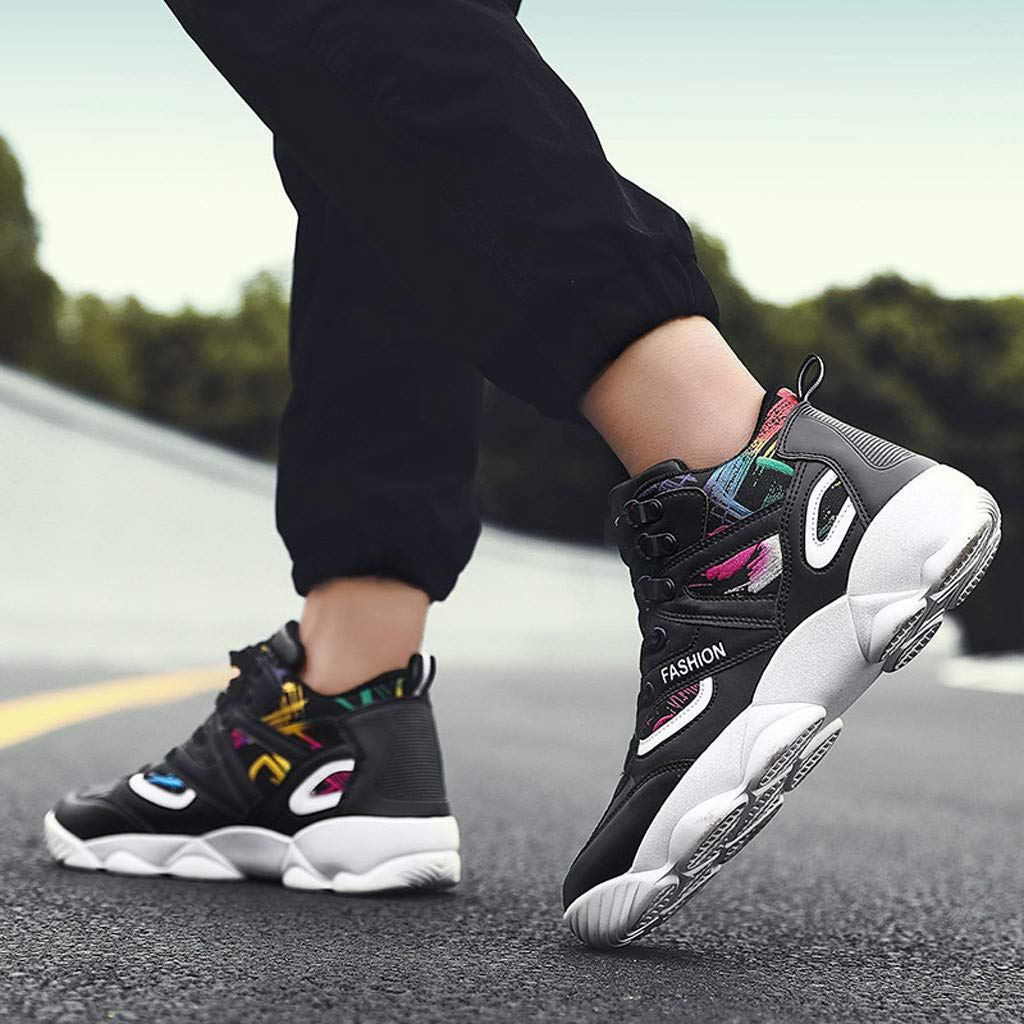 KEEYSUN Couple Fashion Sneakers High Shoes Mixed Colors Wear Resistant Running Casual Shoes Walking Shoes