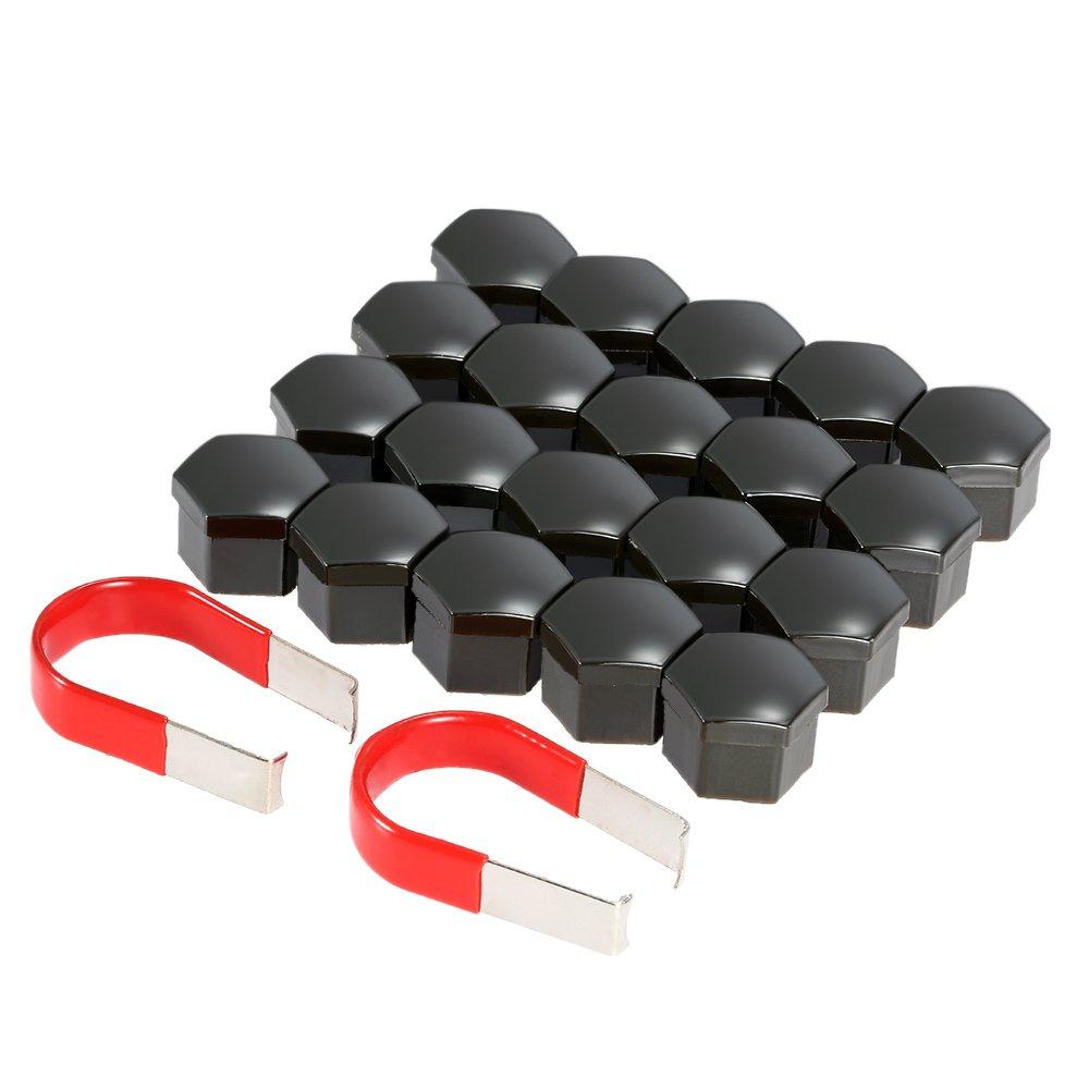 KKmoon 20x Capuchons Protection Hexagonal Pour é crous de Roue Universel 17MM Chrome ( argent)
