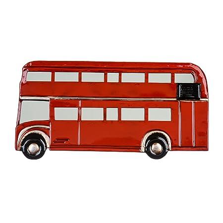 Cuadro decorativo de Metal rojo diseño de autobuses de Londres ...