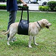 Flameer Arnês de suporte para cães, arnês para levantar cães com alça de suporte ajustável para auxiliar cães,