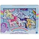 "My Little Pony - Retro Rainbow Mane 6 - 80s Inspired My Little Pony - 3"" Collectable Figurines with Retro Styling…"