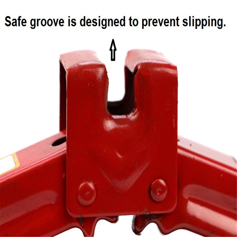 Okeler 1 Ton Scissor Jack for RV Car Motorcycle Lifting Home Emergency, Red by Okeler (Image #3)