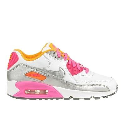 80e8a20de4 Nike Air Max 90 Mesh, Women's Low-Top Sneakers, White, 3.5 UK ...