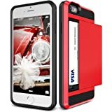 iPhone6s Plus / iPhone6 Plus ケース カード収納 VERUS Damda Slide 背面 カード ケース 耐衝撃 二重構造 衝撃吸収 カバー [ アイフォン 6s プラス / 6 プラス 専用 ] クリムゾンレッド