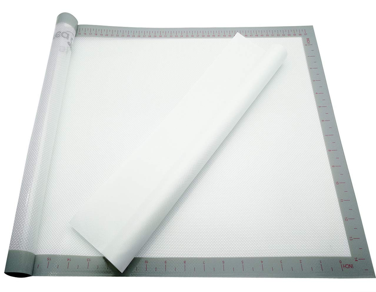 Silicone Mat for Applique and Crafts 24.4x16.5 Premium Silicone Sheet,Non-Stick,Non-Slip,Reusable,and Durable,Including Free Transparent White Applique Pressing Sheet
