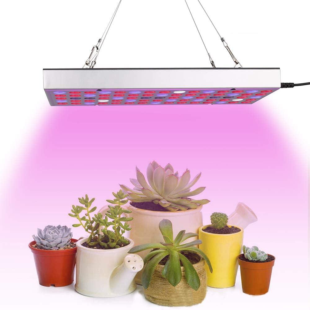 LED Grow Light Full Spectrum Panel Indoor Plants Growing Lights Plant Lamp for Seeding Vegetable Flower (25W, Silver)