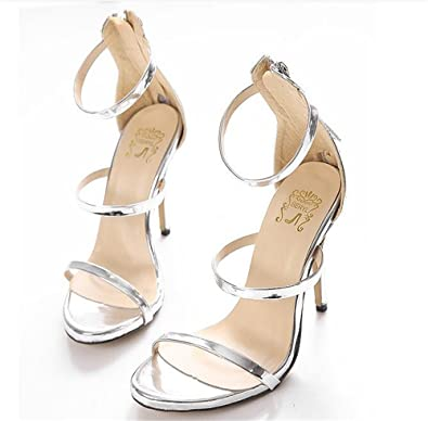 1cfc22bbd6bb edv0d2v266 Womens Ladies Stiletto high Heel Barely There Double Strap  Buckle Party Sandals Shoes Size (