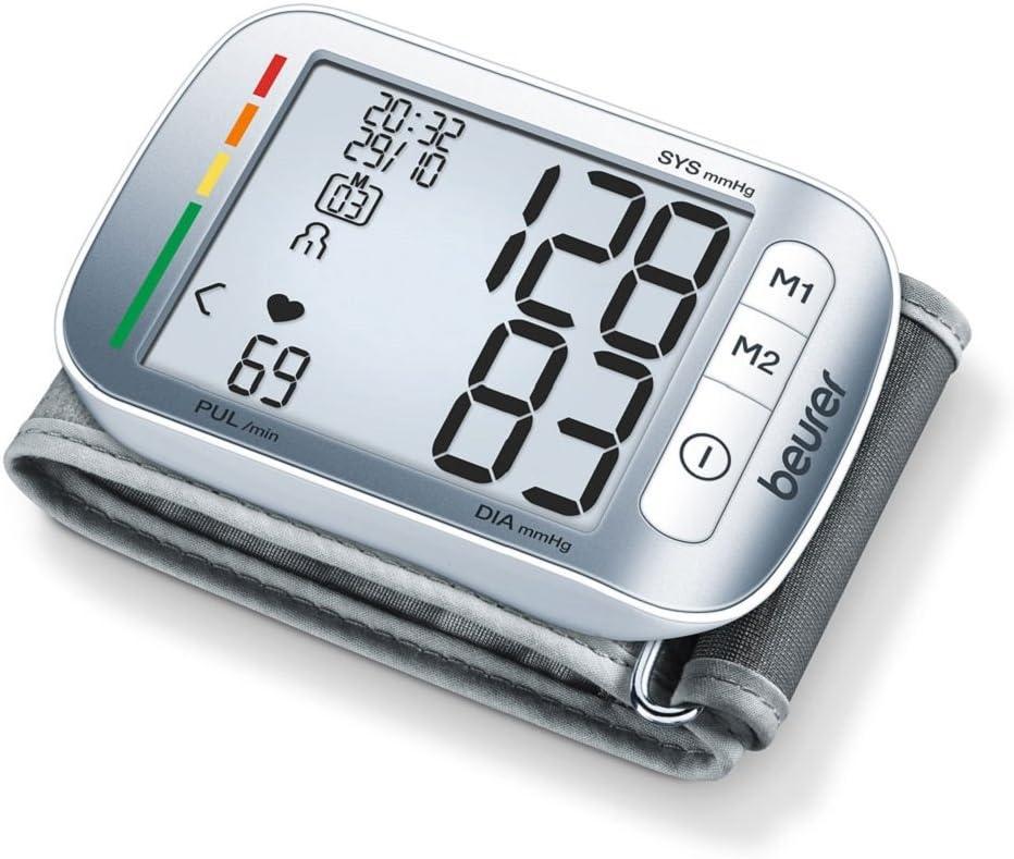 Beurer BC50 - Tensiómetro de muñeca, indicador OMS, memoria 2 x 60 ...