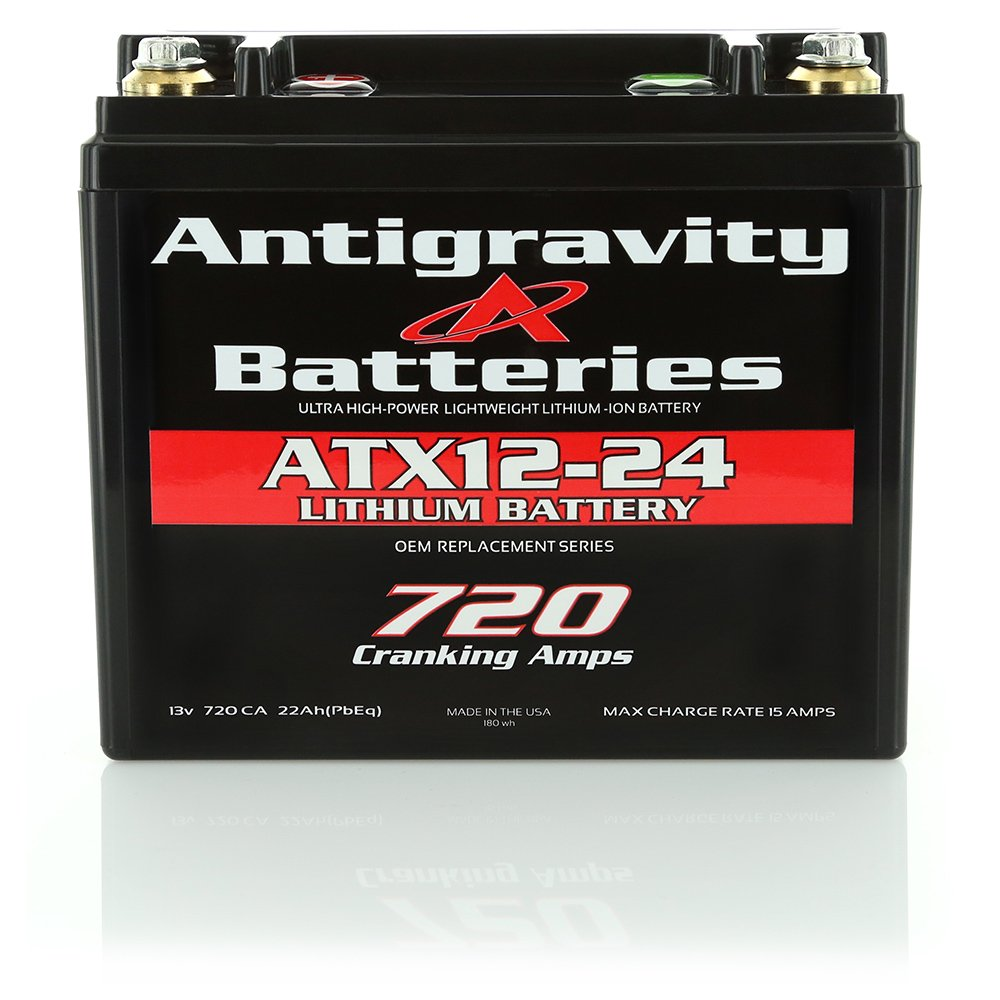 Antigravity Batteries YTX12-24 Extreme Power Lithium Motorsports Battery, OEM Replacement Series