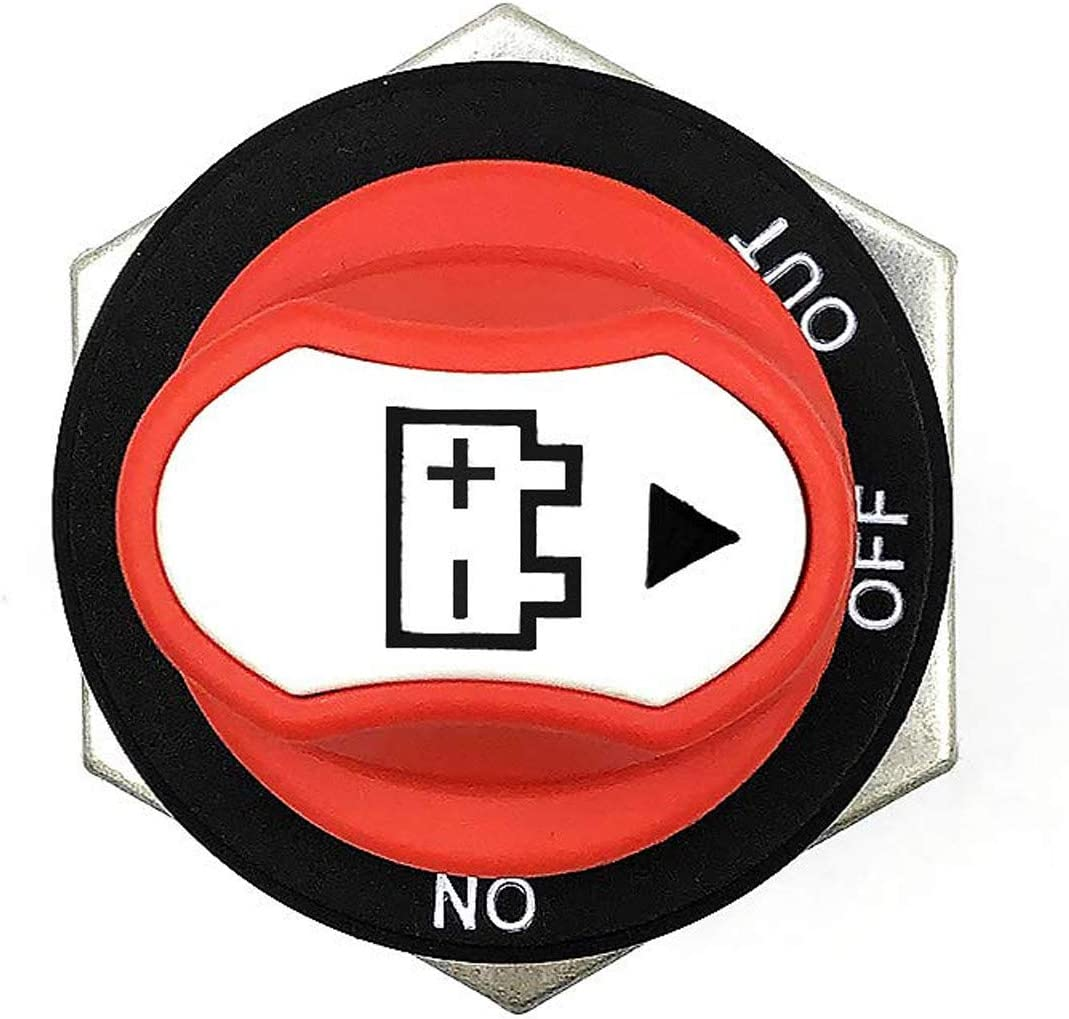 Rot # 50a 50v Akku Power Cut Off Schalter Netzschalter f/ür Marine Boot Caravan Kfz,Schwarz 200A Wasserdichter Batteriehauptschalter Batterie Trennschalter Asudaro Batterieschalter 50A //100A