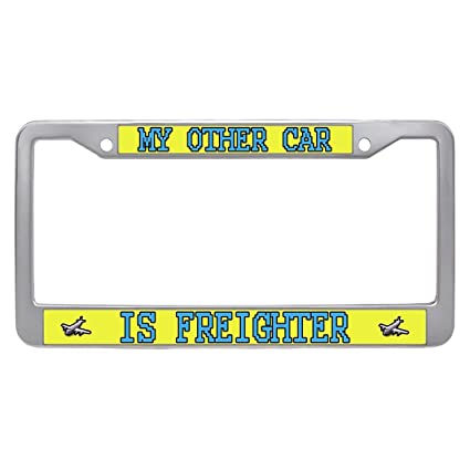 Amazon.com: Dongsmer My Other Car is Freighter License Plate Frame ...