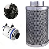 4 Air Carbon Charcoal Filter Inline Fan Scrubber Odor Control Hydroponic New