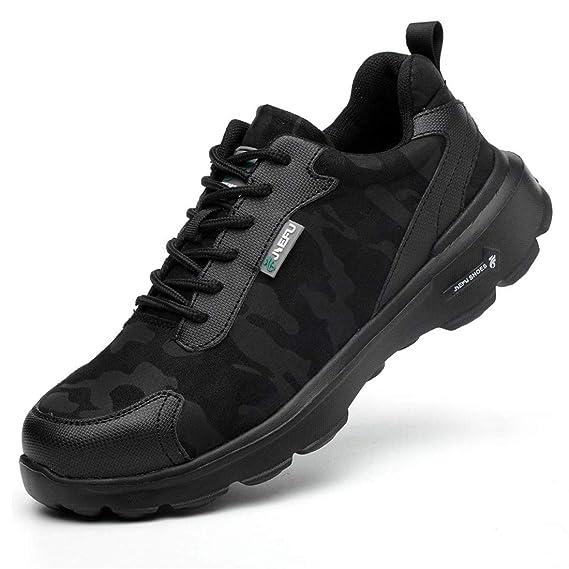 Zapatos de Seguridad Hombres con S3 Punta de Acero Zapatillas de ...