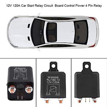 Amazon.com: 12V 120A Car Start Relay 4 Pin Relay Circuit ... on