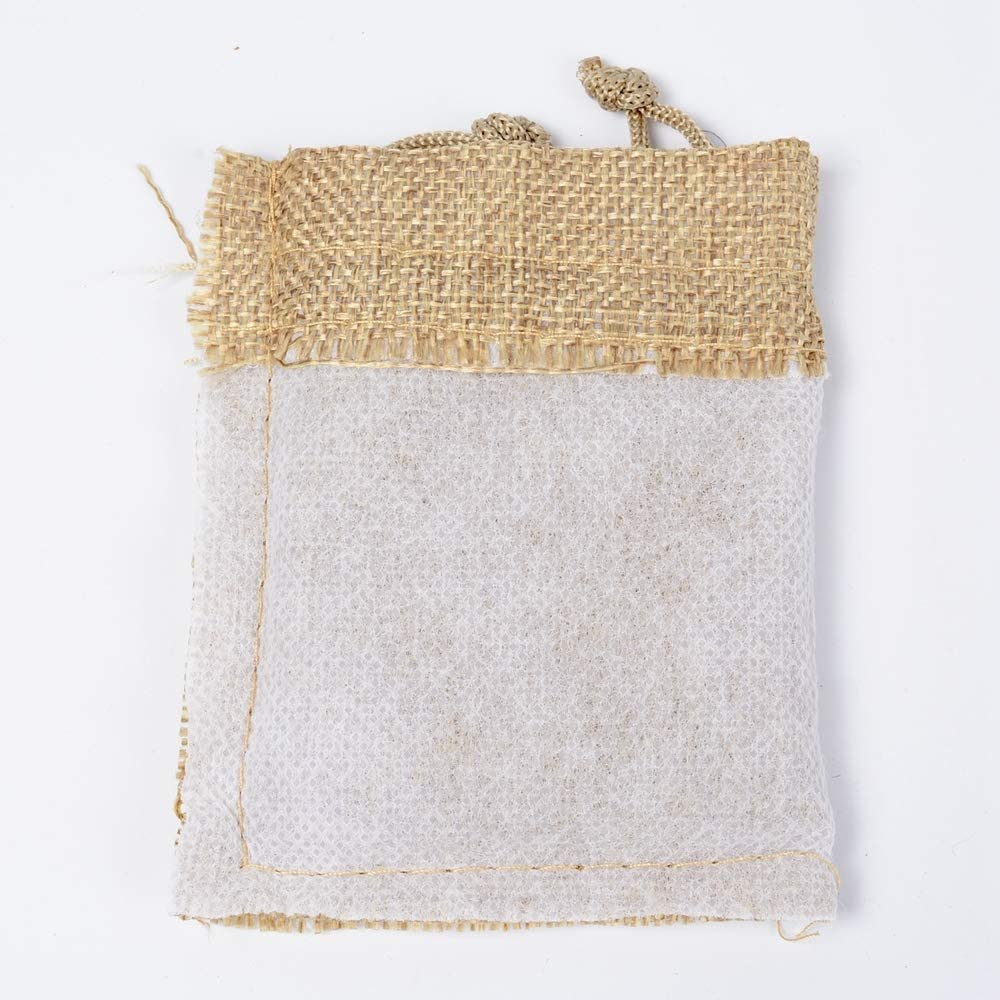 50 PackNatural Lin Pochette Sac Sac Favor pour Les douches Mariages et Parties de No/ël,Beige CZSM 8x10cm Sacs en Toile de Jute avec Cordon de Serrage