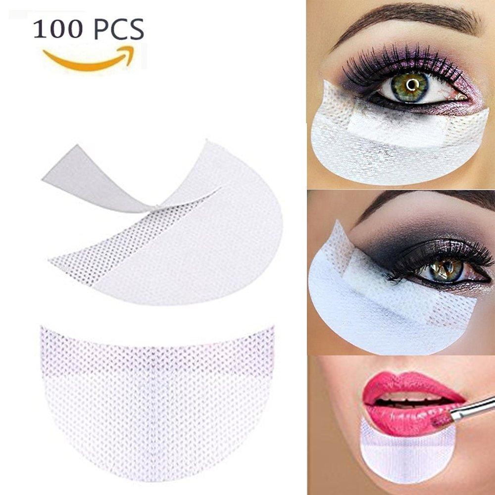 YiKiMira 100Pcs Disposable Eye Shadow Shields Makeup Beauty Guard Pads Cosmetic Tools Makeup Eye Pad Sticker (100Pcs)