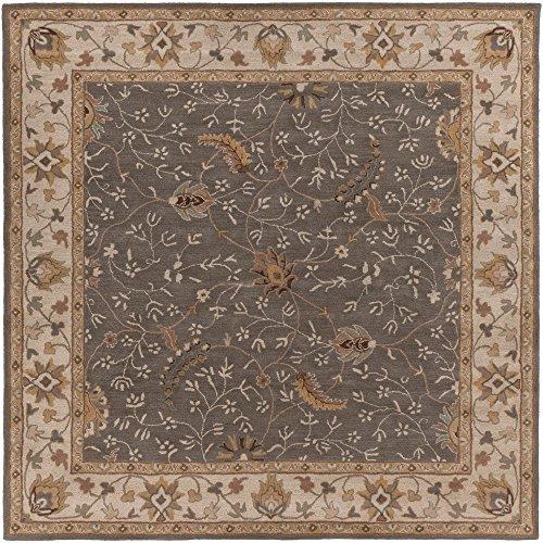 Surya Caesar CAE-1093 Classic Hand Tufted 100% Wool Cumin 6' Square Traditional Area Rug