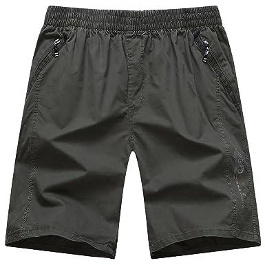 19fea69256bb Heheja Herren Cargo Shorts Knielang Männer Militär Kurze Hose Baumwolle  Bermuda Armee Grün 6XL