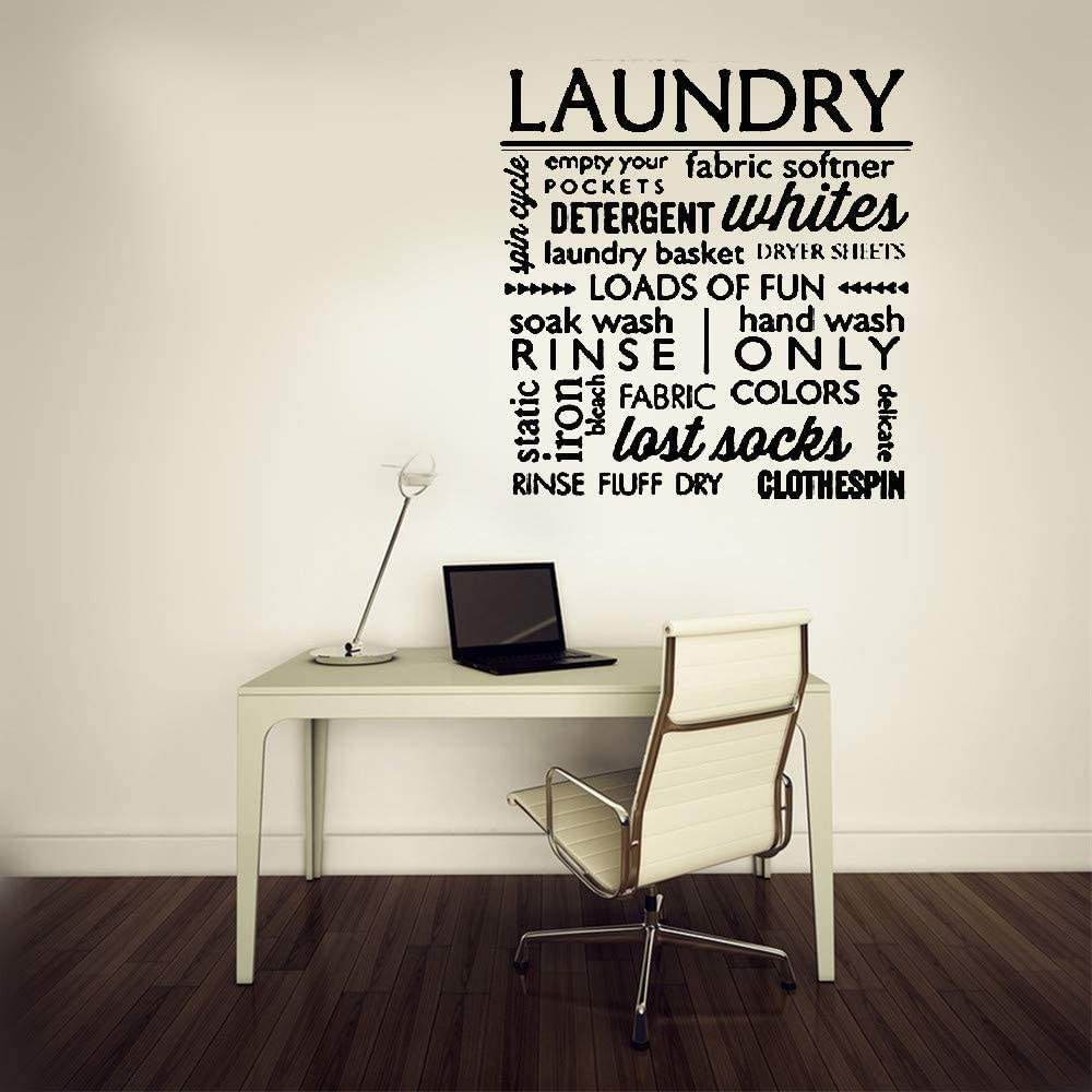 Wall Decal Sticker Art Mural Home Decor Quote Laundry Detergent Whites Last Socks for Laundry Room