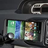 Amzer Swiveling Air Vent Mount Holder for HTC Desire 816 - Retail Packaging - Black