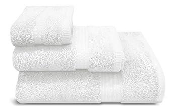 PimpamTex – Toalla Premium Extra Grande de baño 100% Algodón 100x150 cm – (Blanco