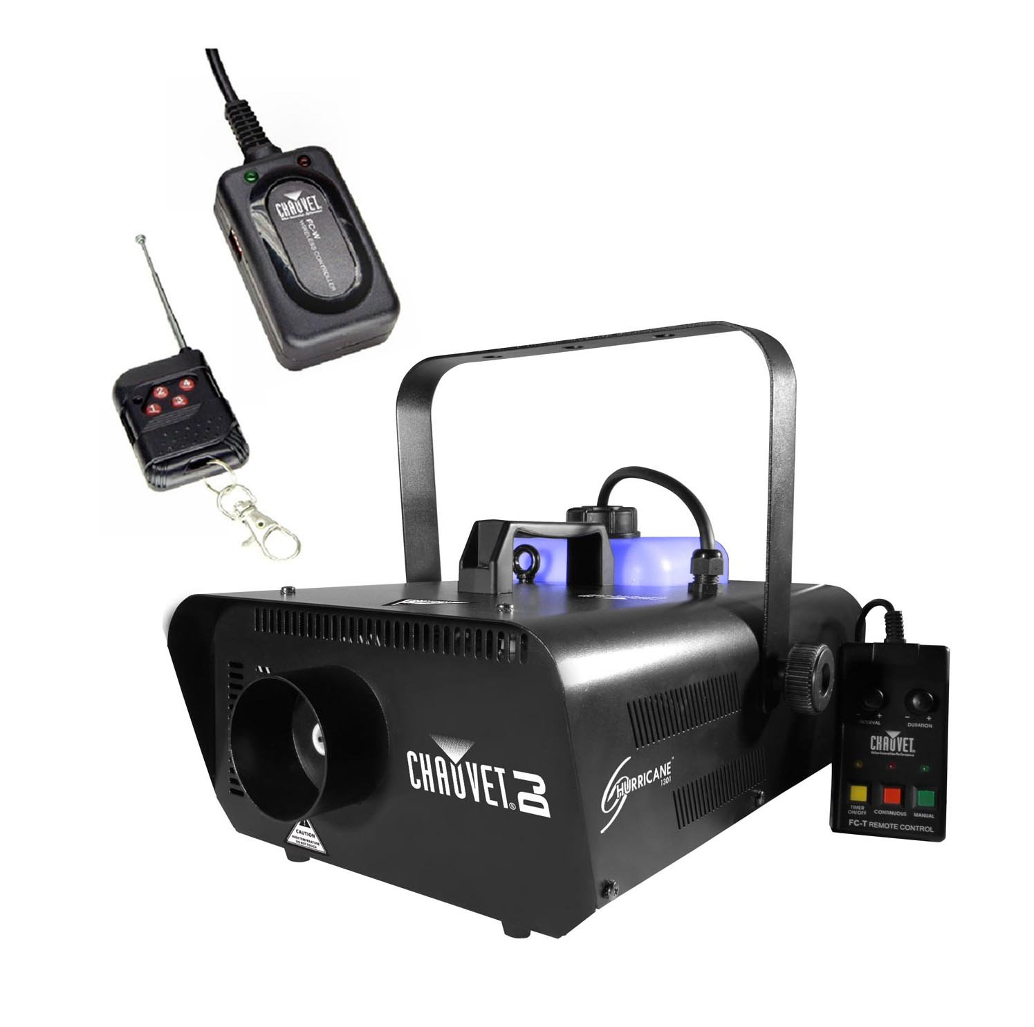 Chauvet DJ Hurricane 1301 H1301 Pro Fog/Smoke Machine w/ FC-W Wireless Remote