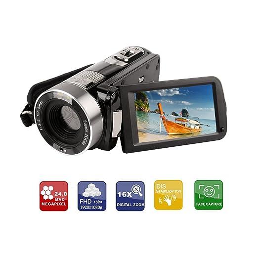 19 opinioni per Ckeyin ® Videocamera Full HD, 5 Megapixel, Zoom digitale 16x, Display LCD da 7,6