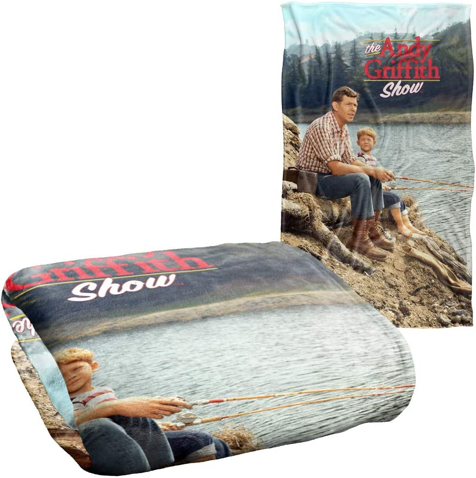 """Trevco Andy Griffith Fishing Hole Silky Touch Super Soft Throw Blanket 36"""" x 58"""""""