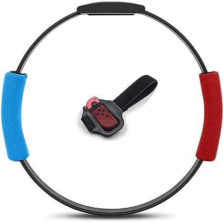 Correa para Pierna y Agarre Ring-con para Ring Fit Adventure Nintendo Switch,Correa de muñeca elástica Ajustable Volante Antideslizante Accesorios Kits para Switch Joy-con Controller Game,Red + Blue: Amazon.es: Hogar
