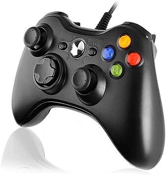 Diswoe Xbox 360 Mando de Gamepad, Controlador Mando USB de Xbox 360 con Vibración, Controlador de Gamepad para Xbox 360 Mando para PC Windows XP/7/8/10: Amazon.es: Electrónica