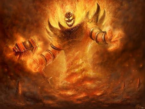 Amazon.com: Warcraft Character Fire Señor Ragnaros Juego Fan ...